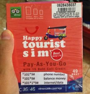 Туристическая сим карта Таиланд