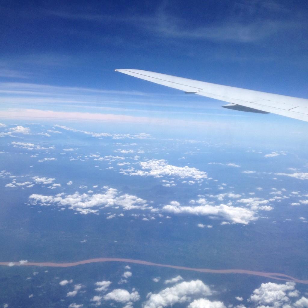 Крыло самолета Новосибирск-Бангкок
